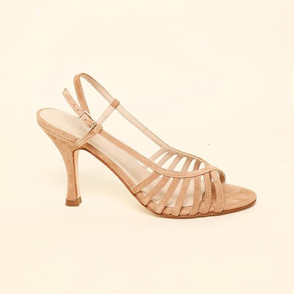 Sandalias de ante camel