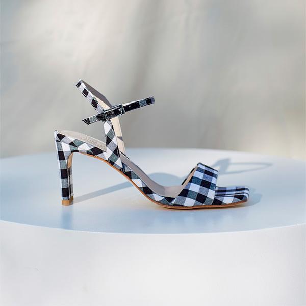 Sandalias de cuadros vichy
