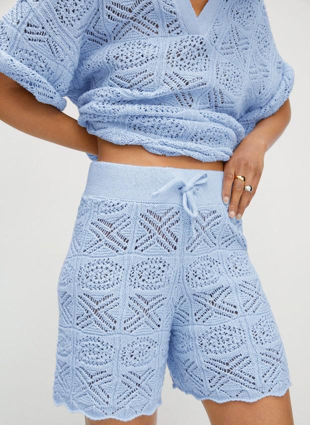 Shorts de crochet