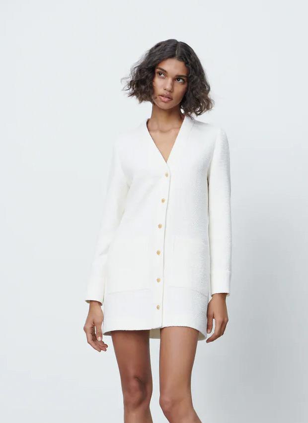 Vestido americana blanco de Zara