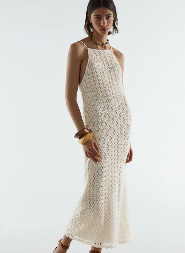 Vestido blanco de Zara de crochet