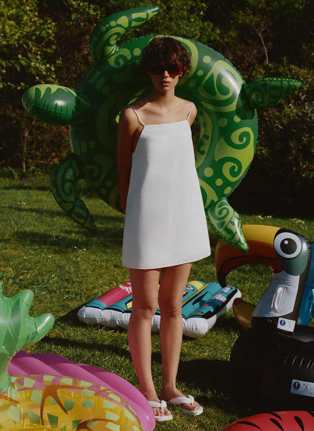 Vestido blanco minimal