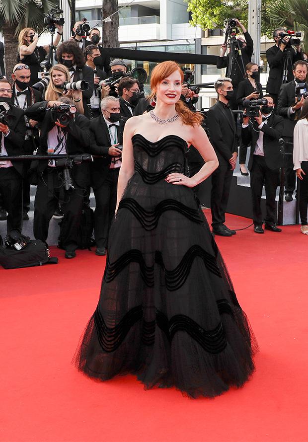 Jessica Chastain en la alfombra roja del Festival de Cannes 2021