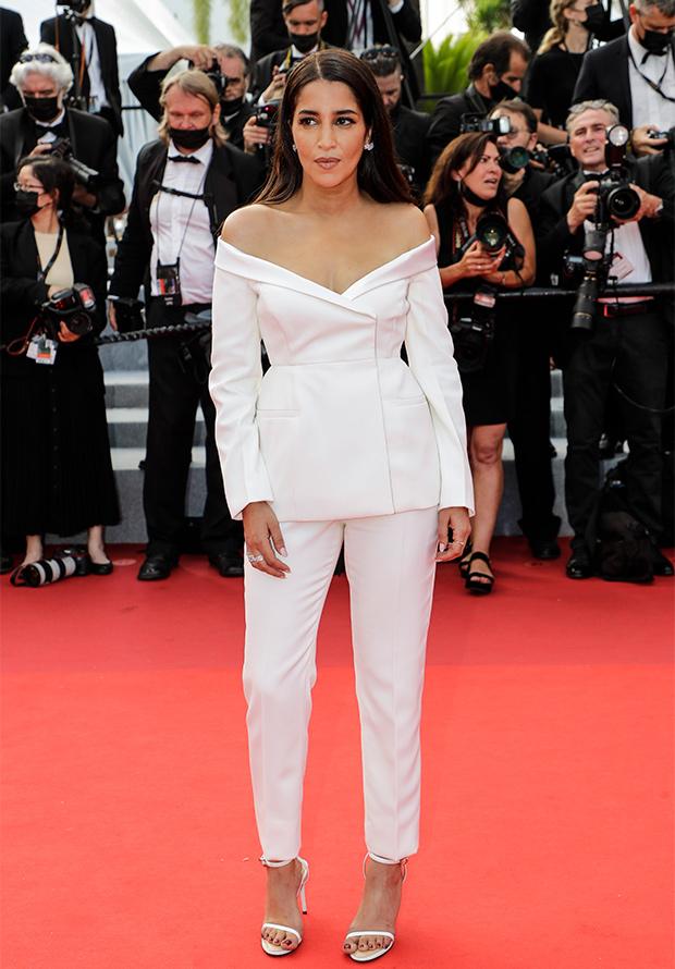 Leïla Bekhti en la alfombra roja del Festival de Cannes 2021