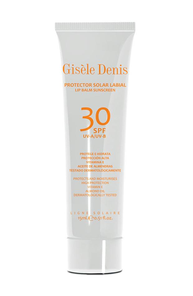 labiales con protección solar Protector labial FPS 30 Gisèle Denis