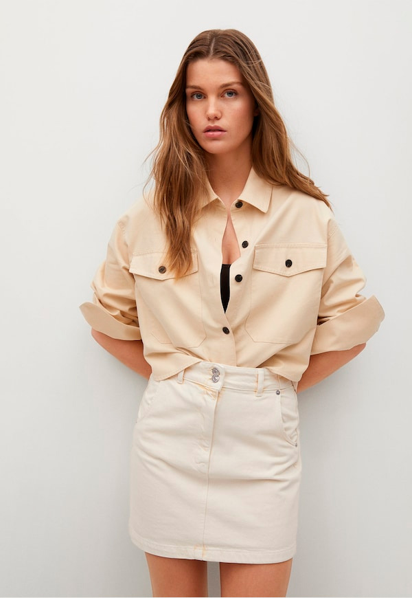 prendas básicas de verano baratas: falda blanca