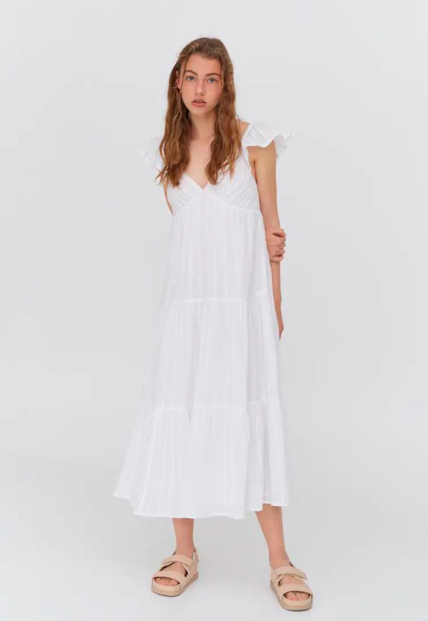 prendas básicas de verano baratas: vestido blanco