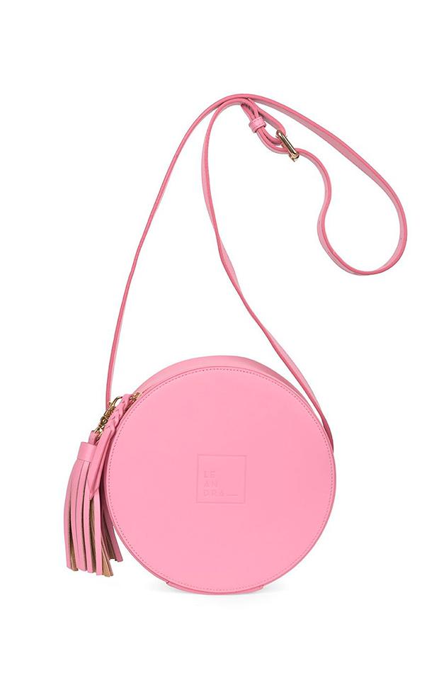 Circle bag rosa de Leandra bolsos más buscados