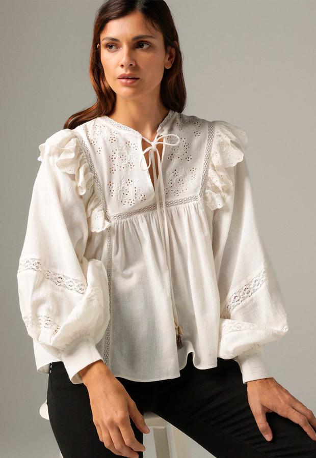 Camisa de manga larga para verano de El Corte Inglés