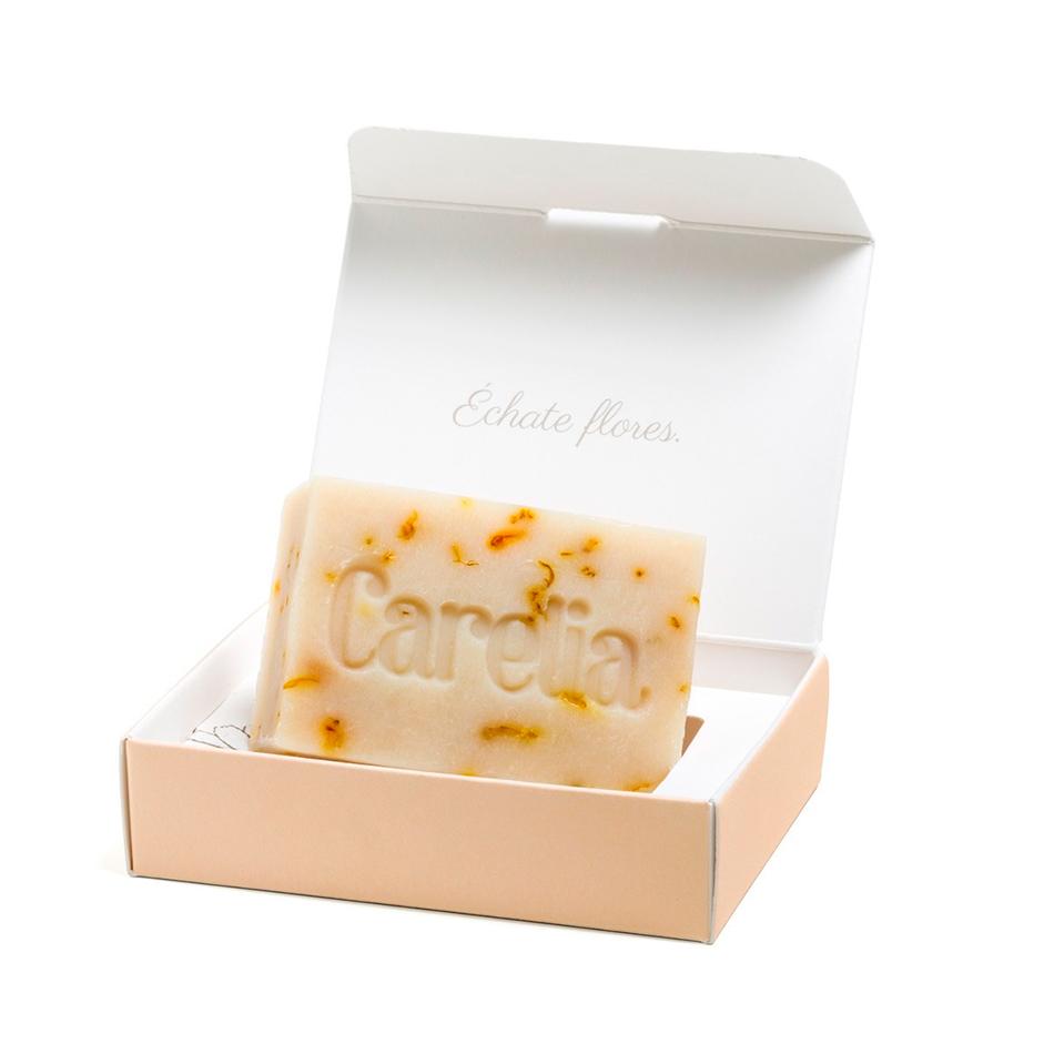 cosmética eco para niños jabón de caléndula de Carelia cosmética eco para niños