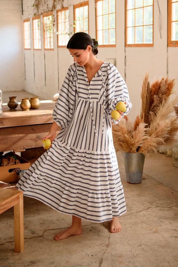 Vestido de rayas de Muscari