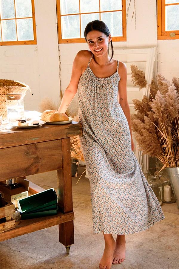 Vestido estampado de Muscari