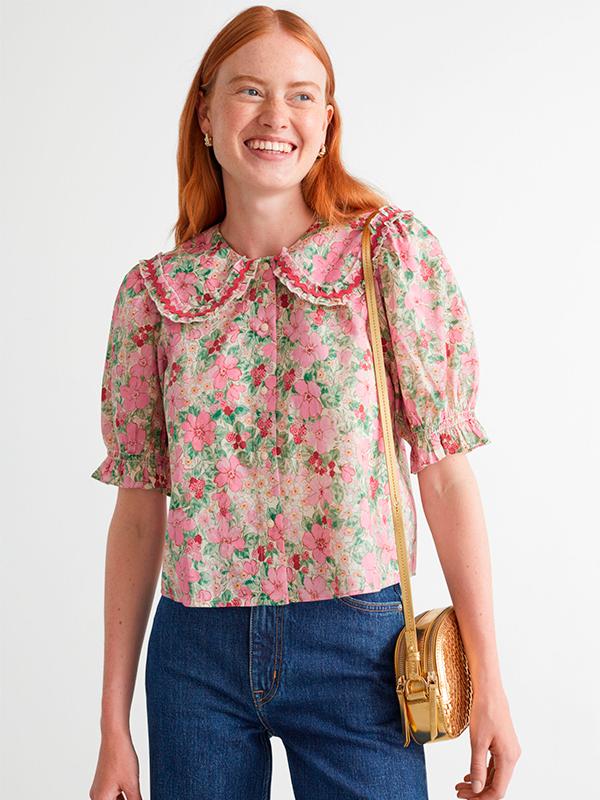 Blusa de estampado floral de las novedades de & Other Stories