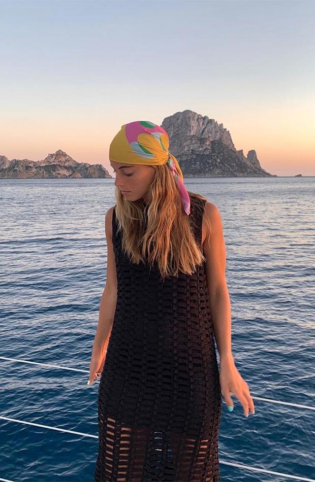 peinados de verano ondas con pañuelo sara baceiredo
