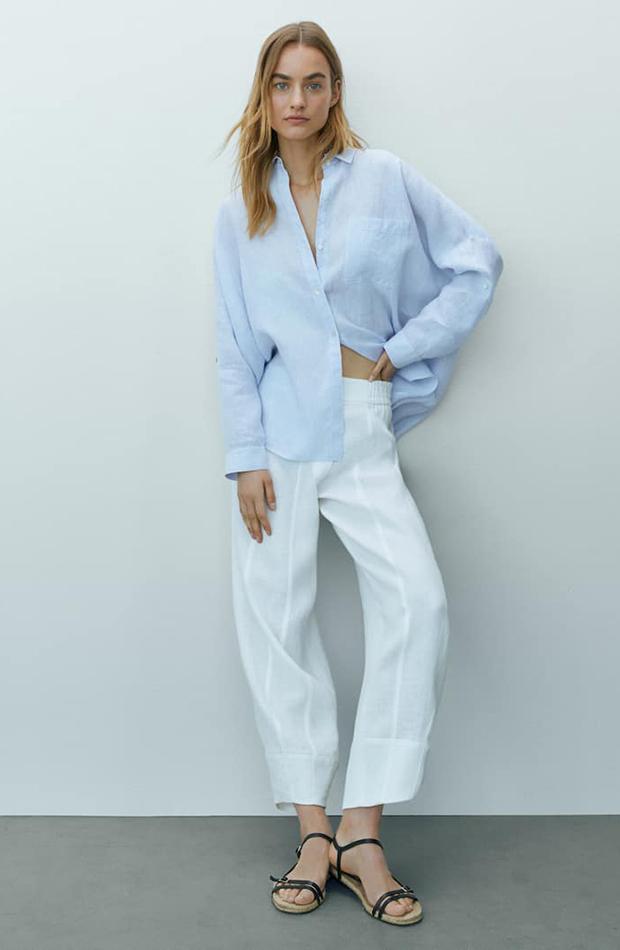prendas de lino Camisa de rayas de Massimo Dutti