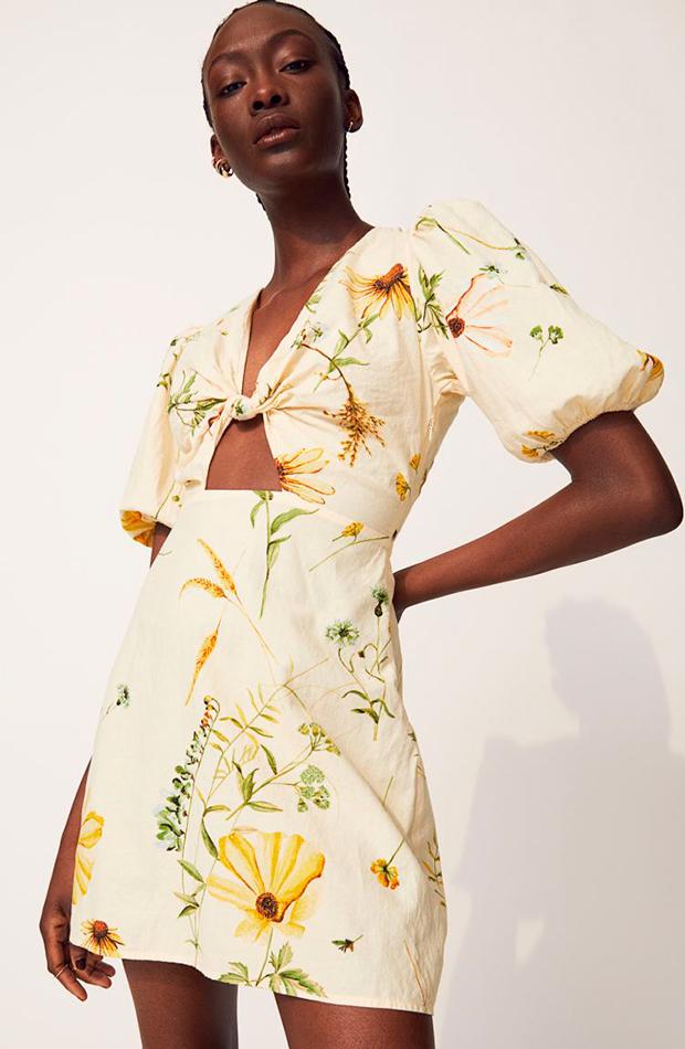 prendas de lino Vestido de flores de H&M