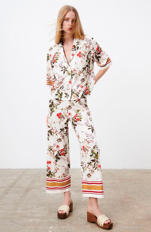 prendas sofisticadas Conjunto de flores de Zara