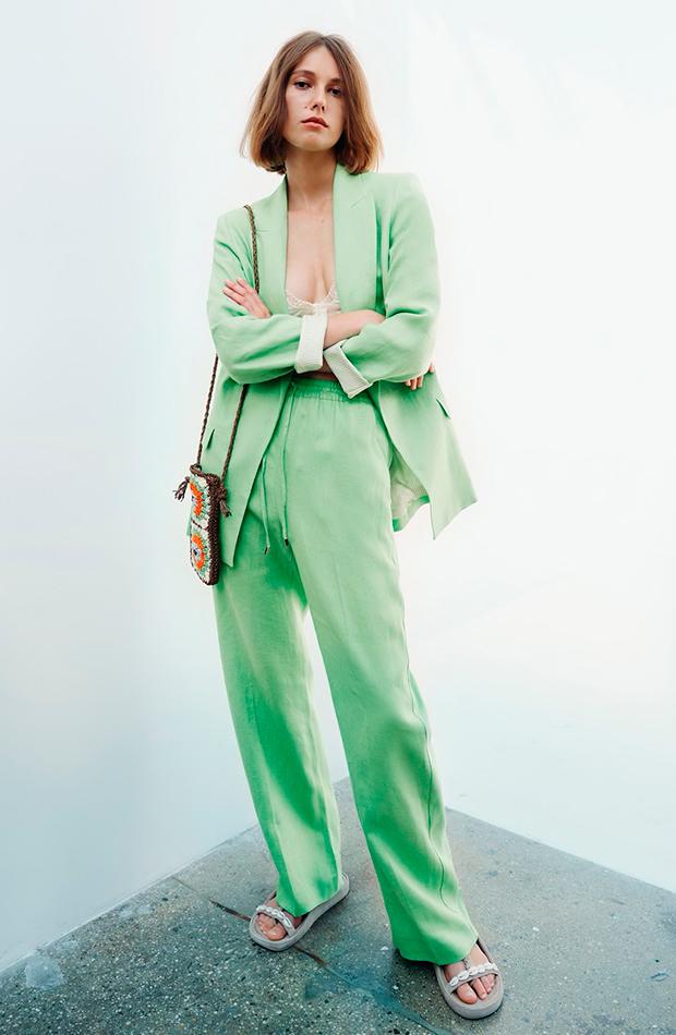 prendas sofisticadas Traje verde de Zara