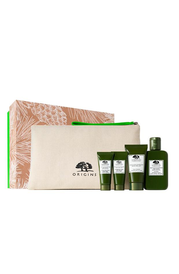 Estuche de regalo Ready, Set, Relief Origins productos de belleza en formato viaje