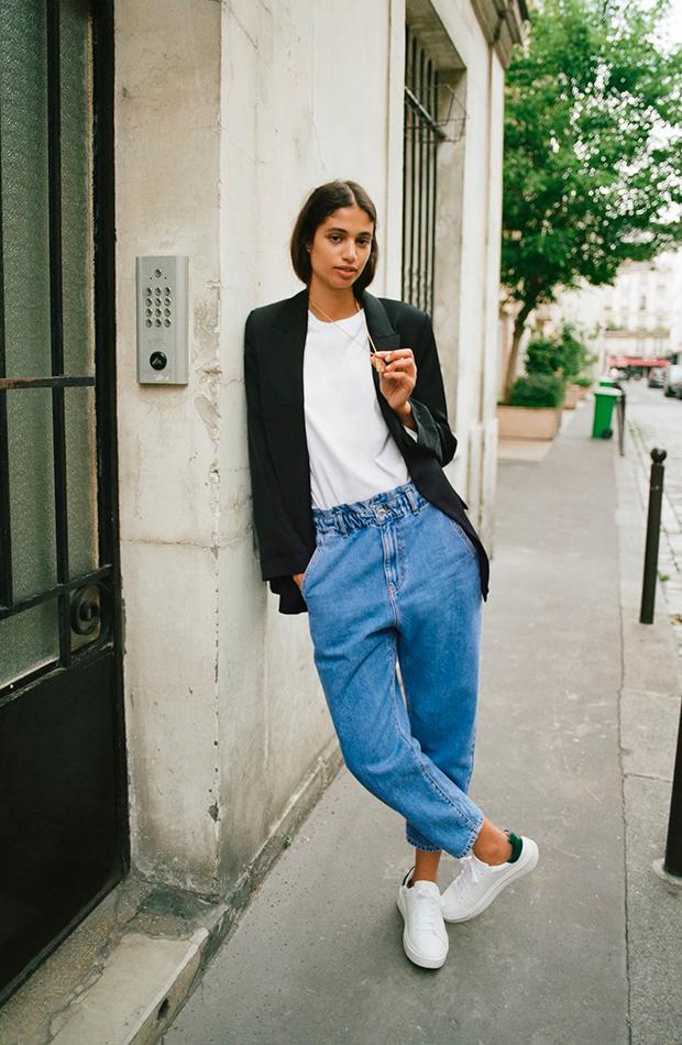 vaqueros de tendencia Zara baggy paper pants