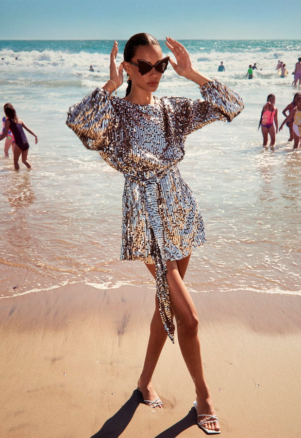 Vestido de invitada low cost de Zara