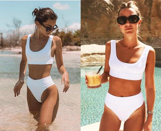 Influencers con bikini blanco