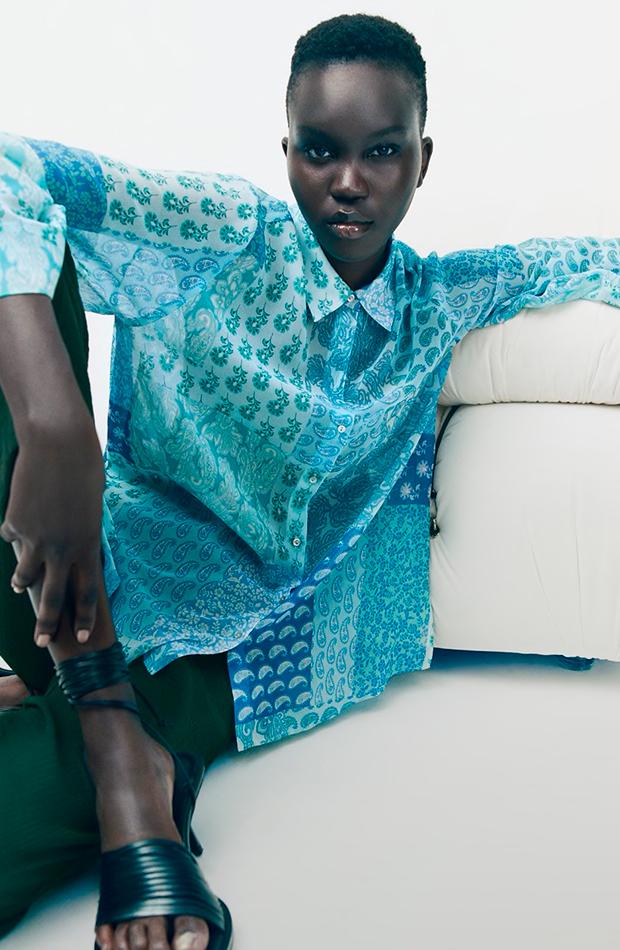 novedades de Zara Camisa estampada
