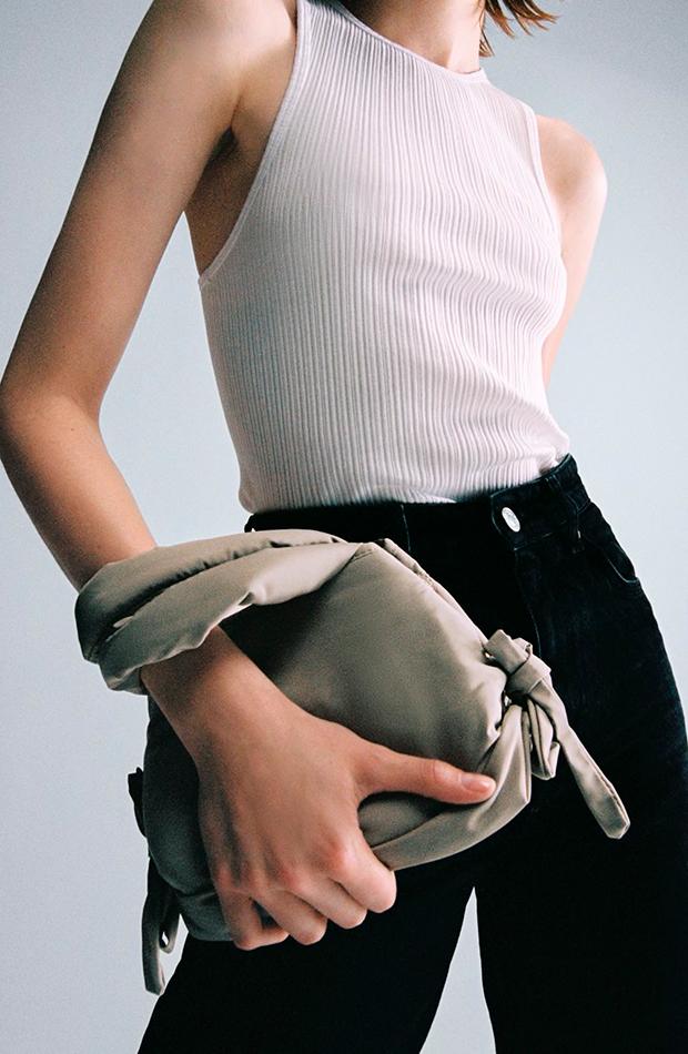 novedades de Zara Mini bolso con lazos