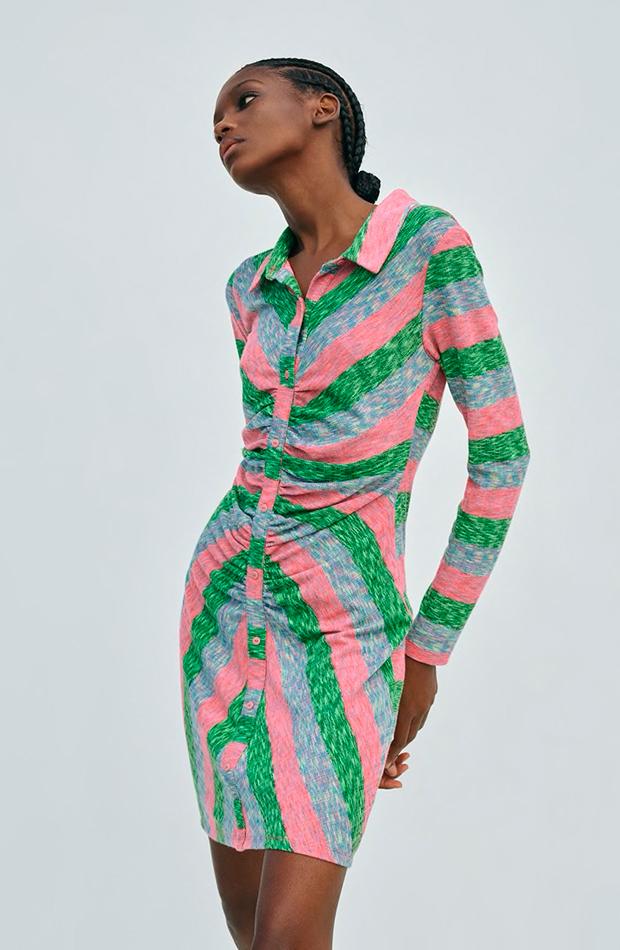 novedades de Zara Vestido camisero