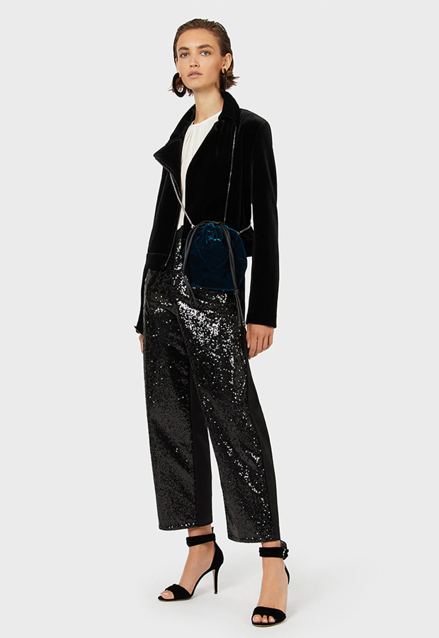 Pantalones culotte de lentejuelas