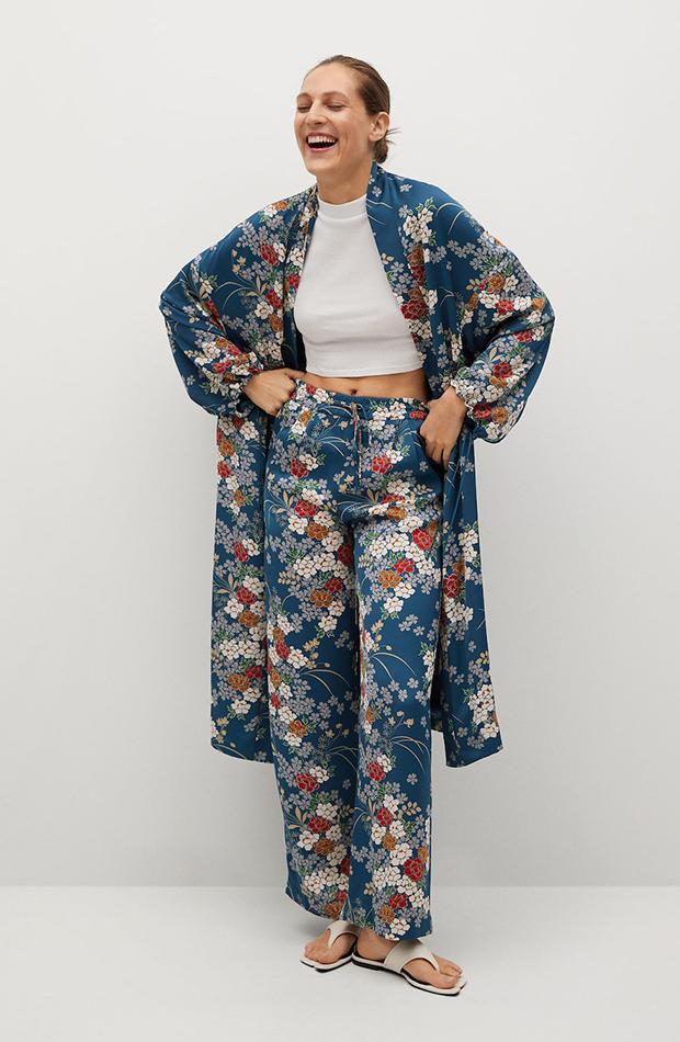 kimonos Mango flores