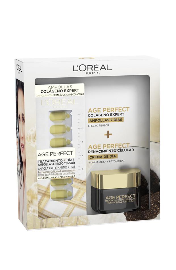 colágeno beneficios Pack ampollas Colágeno Expert Age Perfect de L'Oréal Paris