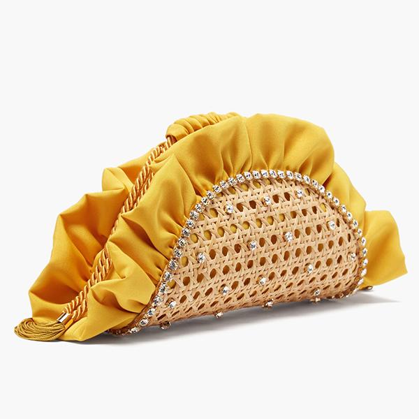 Clutch 'taco'demimbre y satén de ROSANTICA bolsos de lujo borow