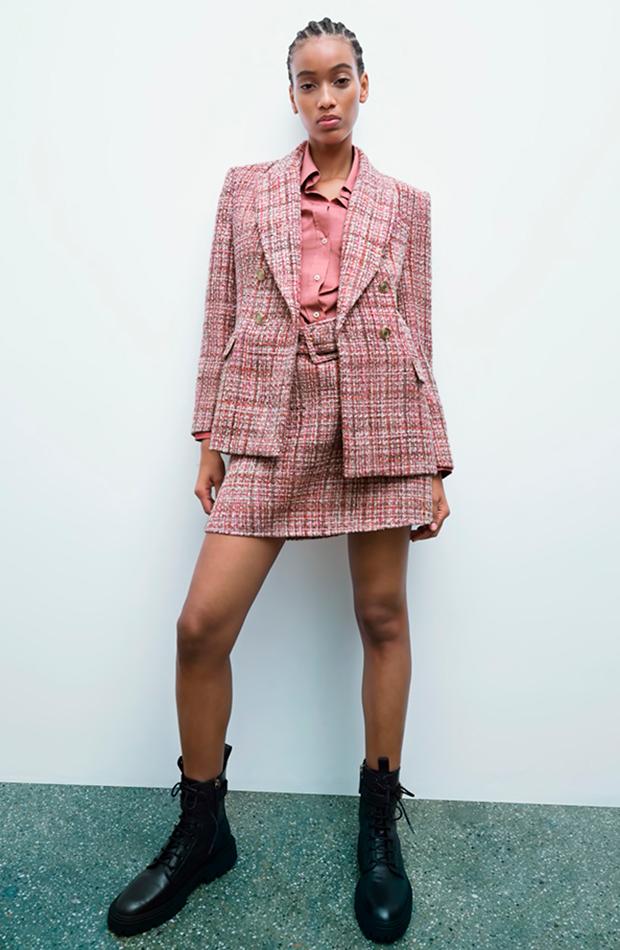 chaqueta de tweed