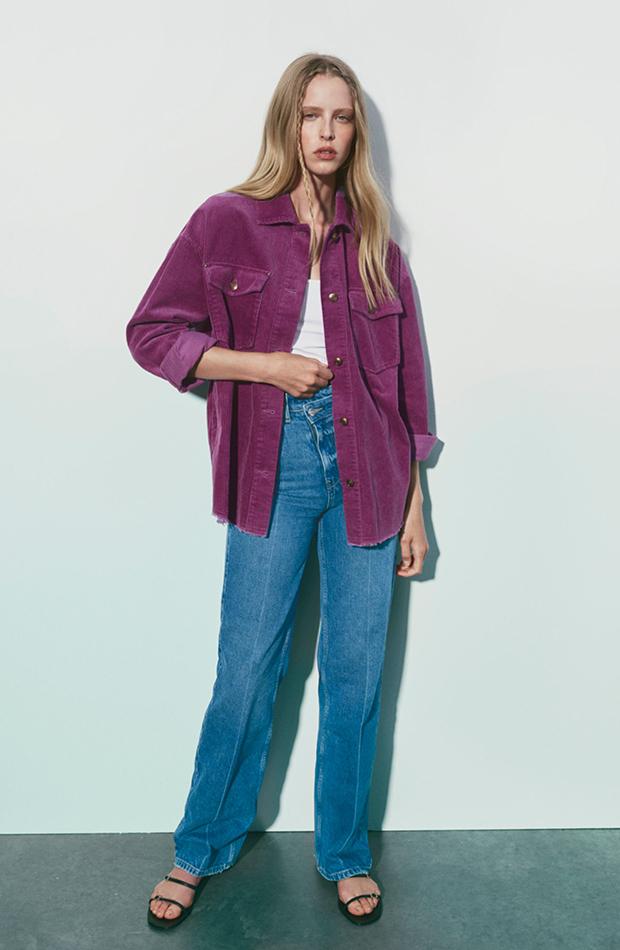 Sobrecamisa de Zara pana chaquetas de entretiempo