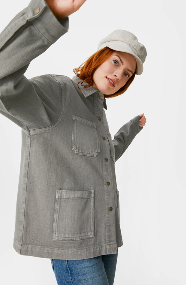 Cazadora verde de C&A chaquetas de entretiempo