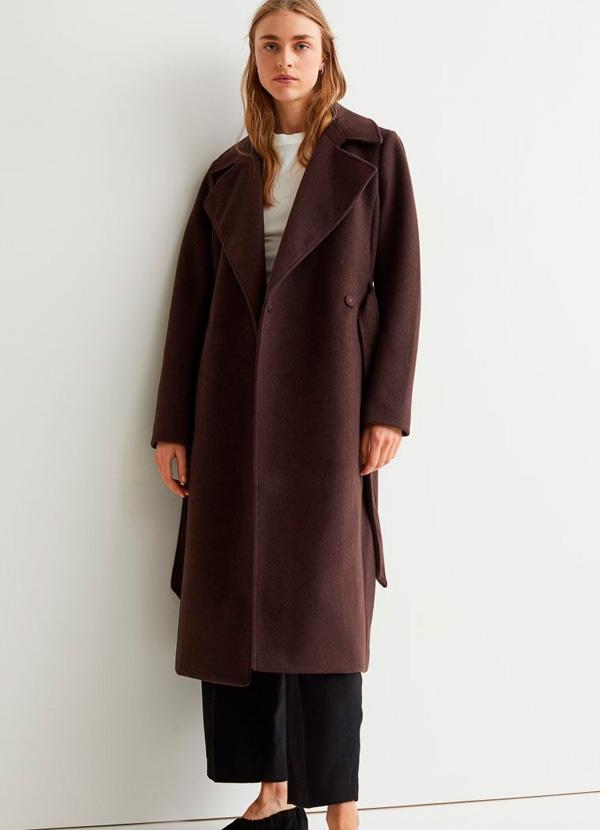 Abrigo de H&M de color marrón