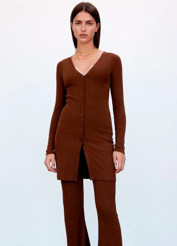 Cardigan de Zara de color marrón