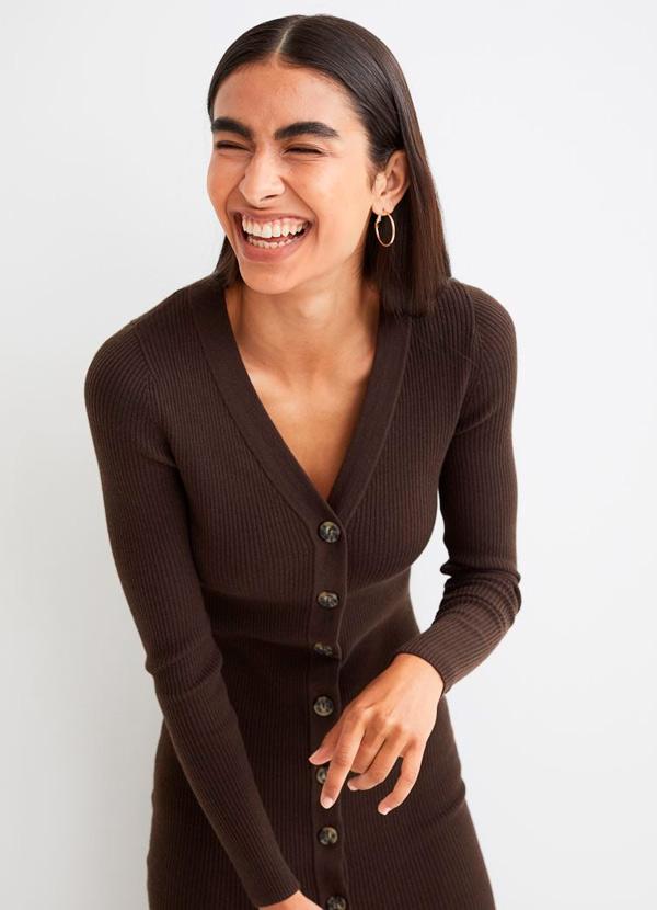 Vestido de H&M de color marrón