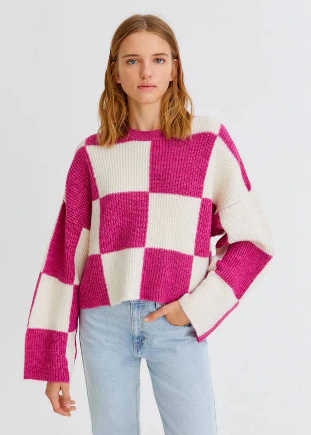 jersey con estampado damero