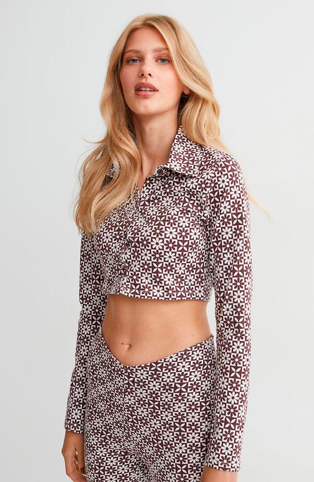 estampado geométrico Top de H&M