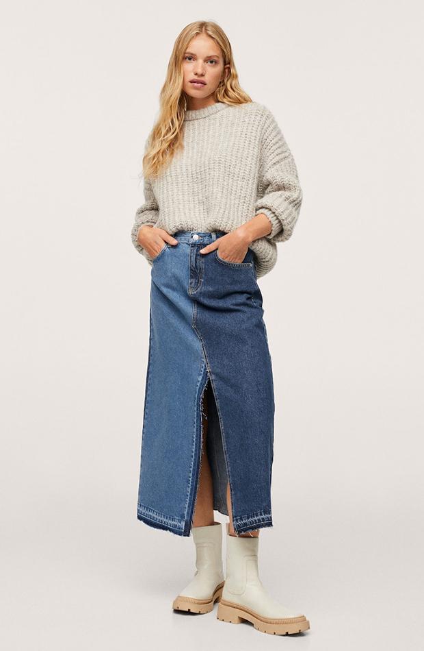 estética de los años 2000 Falda de Mango
