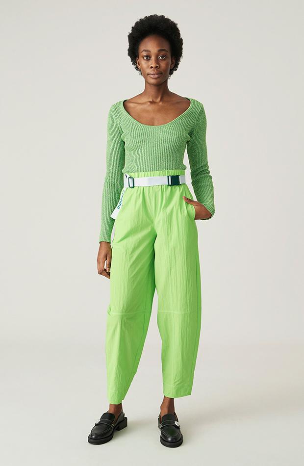 estética de los años 2000 Pantalón verde de Ganni