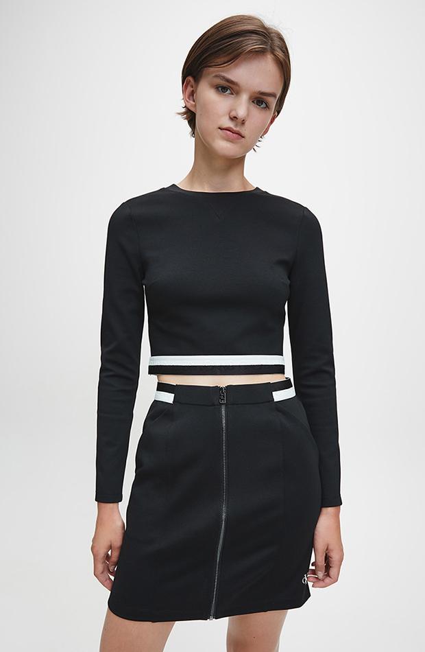 estética de los años 2000 Crop top de Calvin Klein