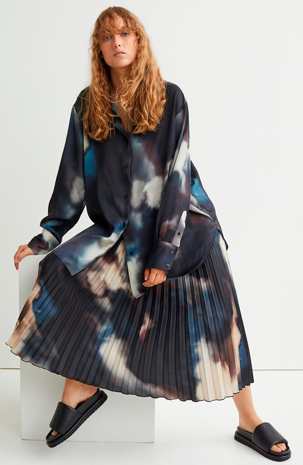 Falda plisada de H&M
