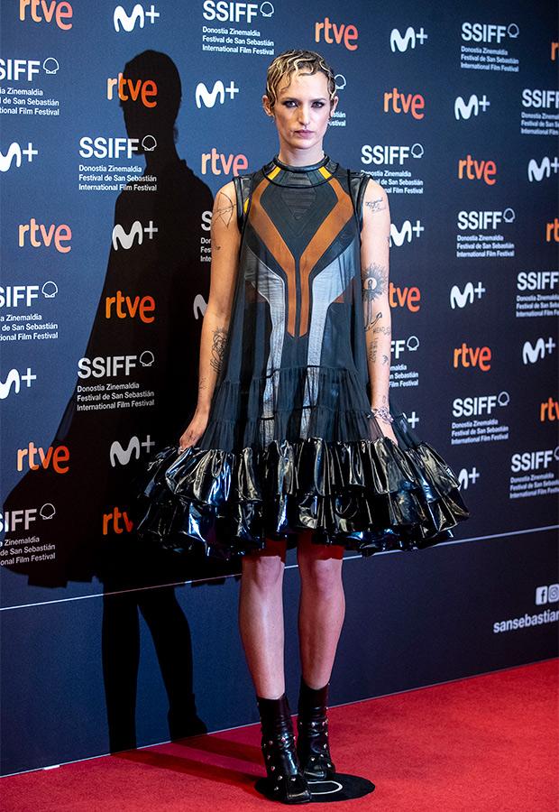 Agathe Rousselle en el Festival de San Sebastián 2021