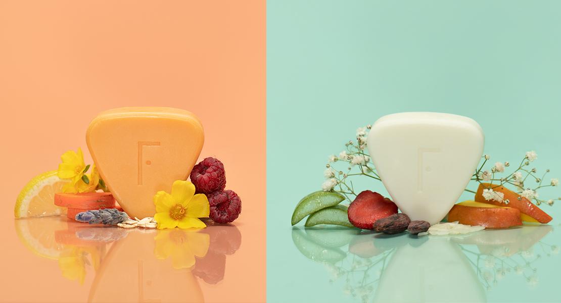 © Freshly Cosmetics solidpod champu y gel cosmética solida