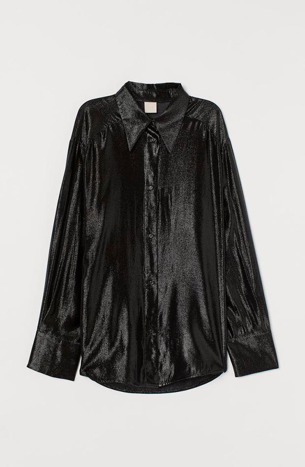 ropa metalizada Camisa de H&M negra
