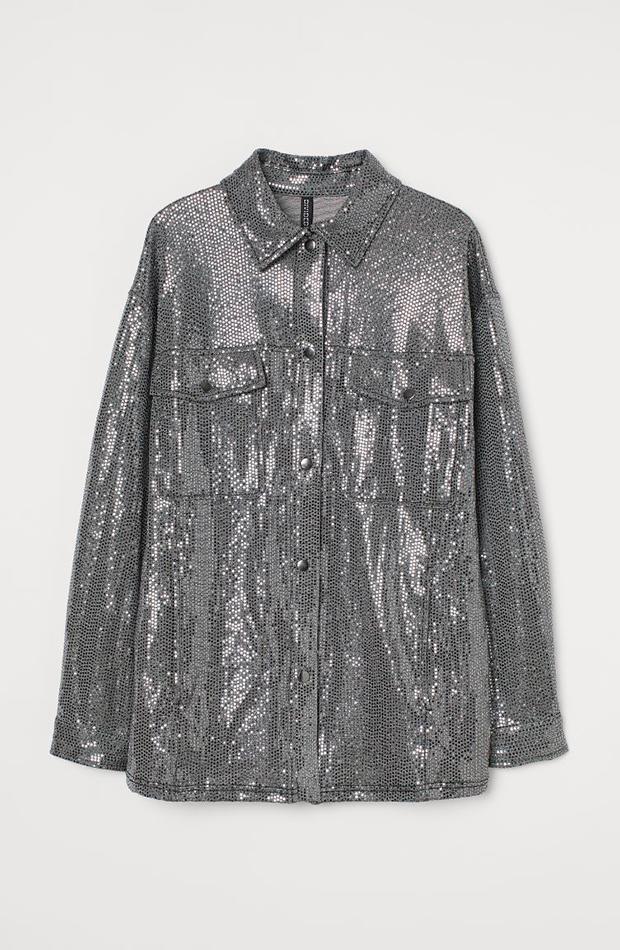 ropa metalizada Chaqueta de H&M