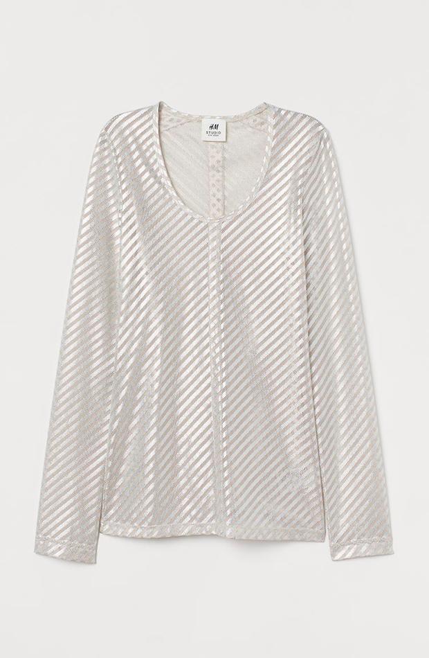 ropa metalizada Top de H&M